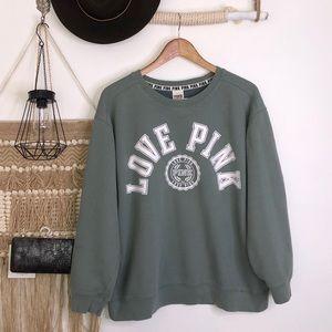 Pink Victoria secret sage green sweater size L
